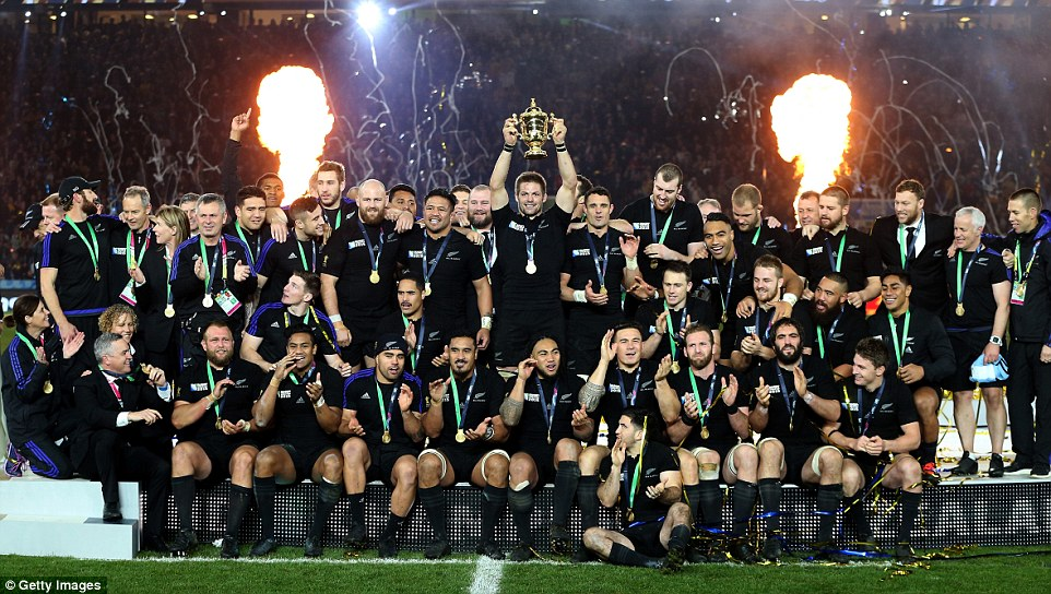 Champions of the Rugby world cup 2015 new zealand
