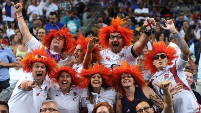 Fans cheer their nation in Rugby world cup